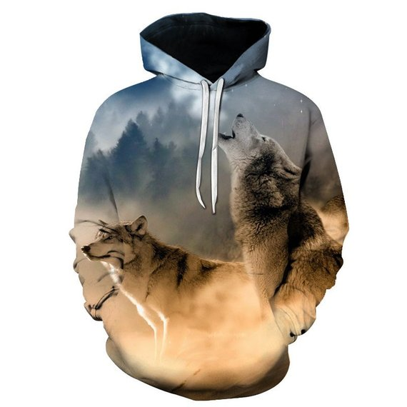 Sweatshirts Animal 3D Printed Hoodies