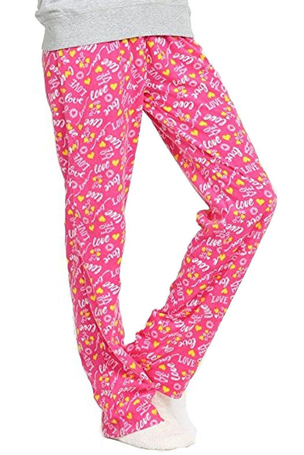 Popular womenus fuzzy fleece pajama pants products pinterest
