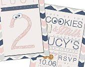 Cookies and Milk Invitation - Cookies & Milk Birthday Party -