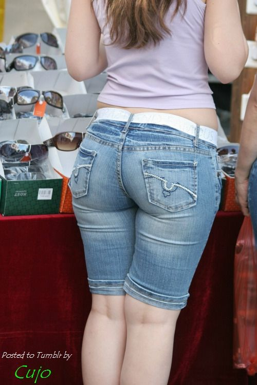 Candid jeans ass GIF pics theme