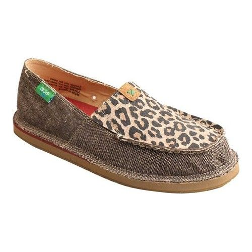 b5713faa6819 Women's Twisted X Boots WCL0001 Casual Loafer - Dust/Leopard Canvas Loafers