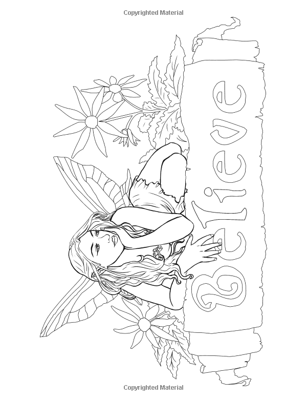 Free Coloring Book With Coloring Pages Of Faeries Elves