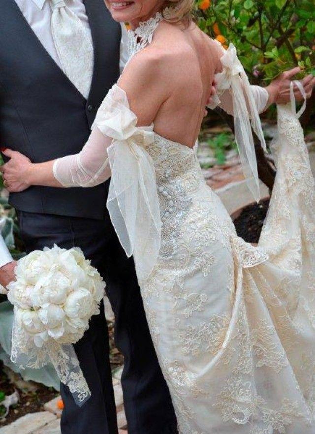 Traumhaftes Brautkleid Gr. 32/34 von Yolan Cris - Designer Brautkleider München - brautkleider-gebraucht.org