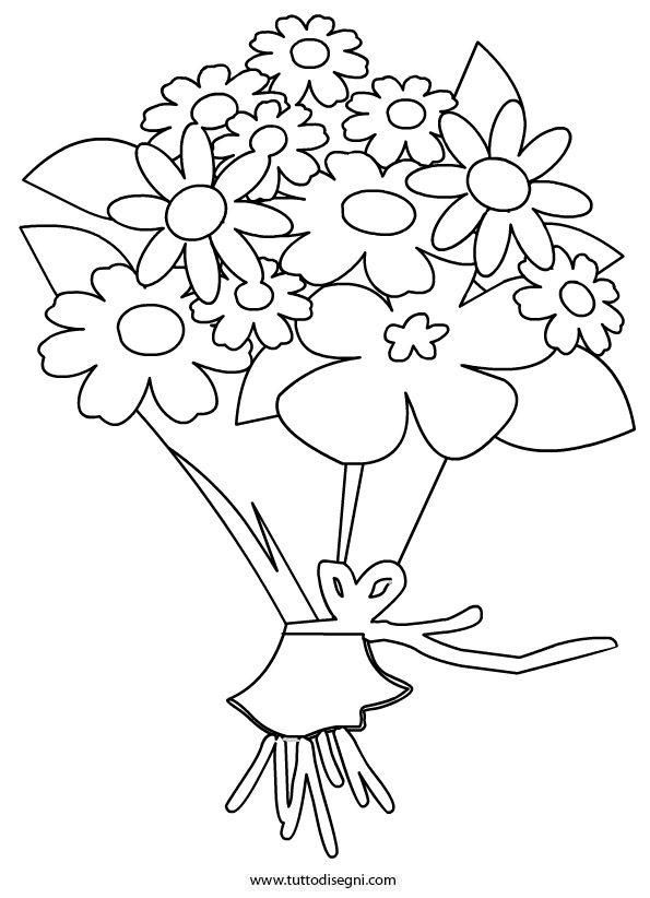 Mazzo di fiori disegno da colorare , Tutto Disegni