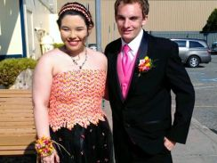 Teen makes prom dress out of Starburst wrappers