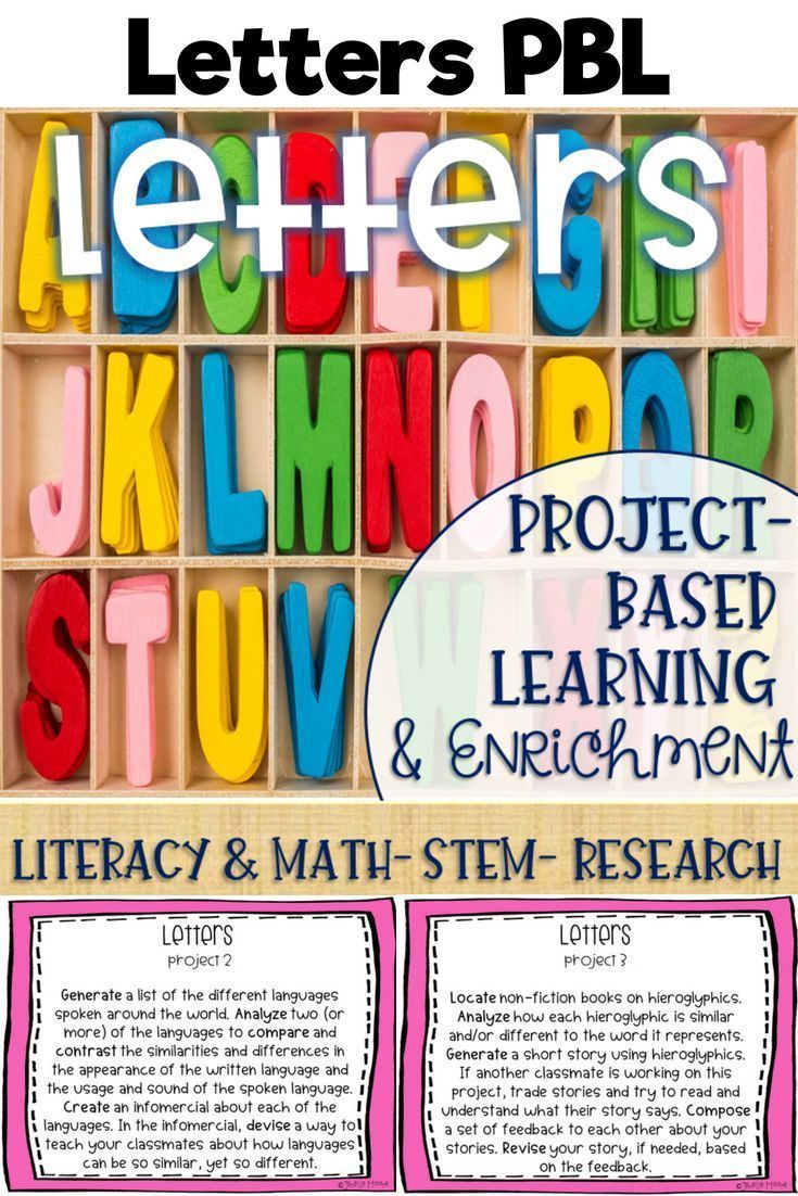 Letters ProjectBased Learning & Enrichment for Literacy