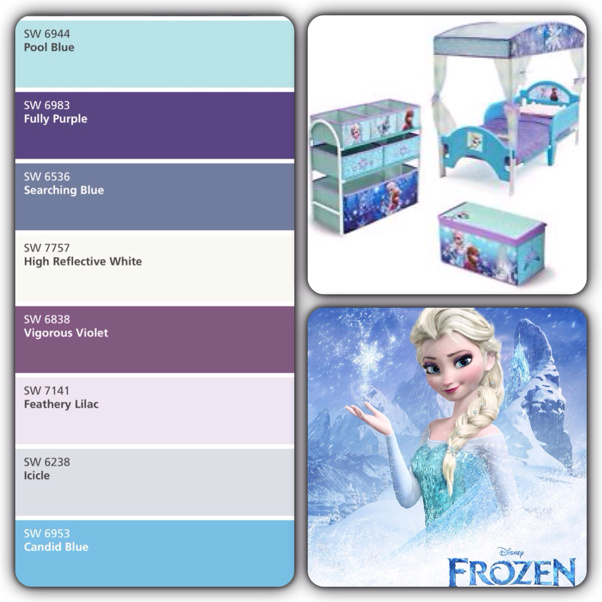 Frozen inspired bedroom - Frozen Has Become A Very Popular Move Amongst Little Girls Now What Sweet Little One Frozen Bedroom Themefrozen Inspired