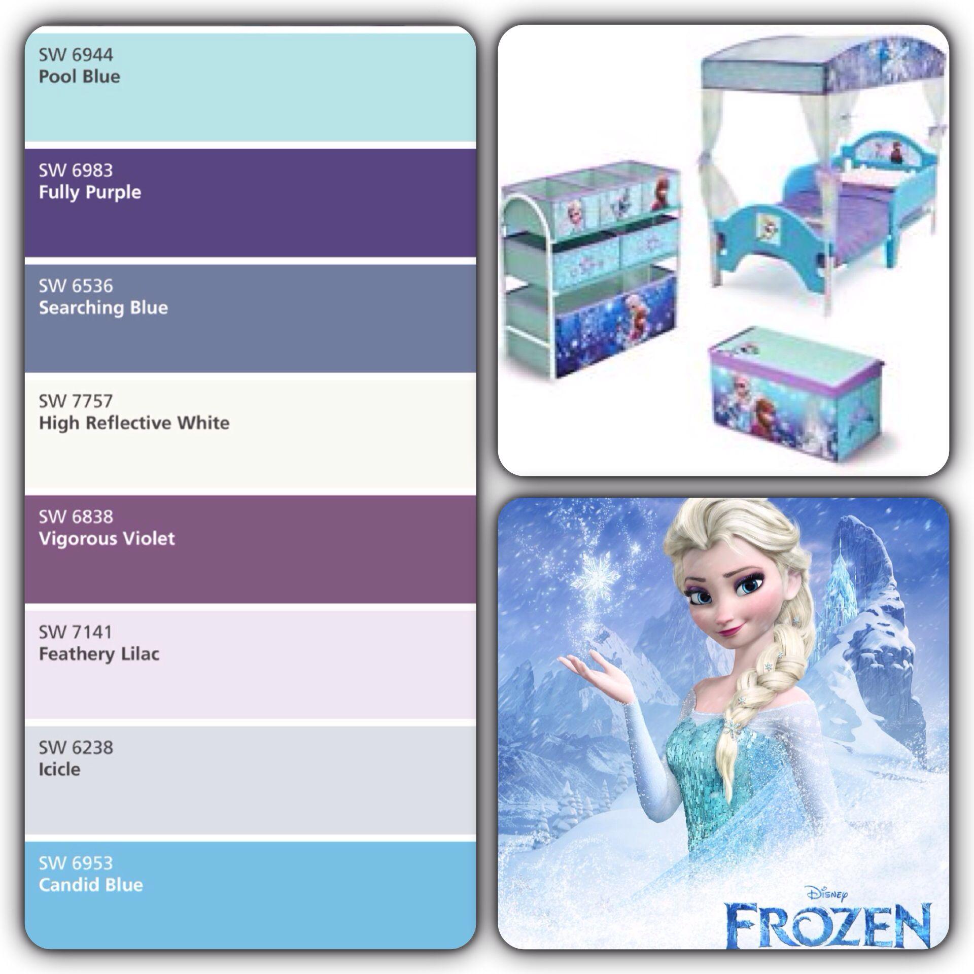 DIY Miniature Dollhouse Bedroom Frozen Elsa Room Decor