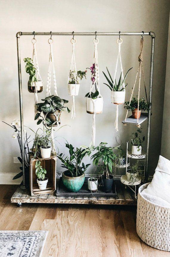 Macrame Plant Hanger set of 5, Macrame Plant Holders, Hanging Planters, Handmade Basket, Natural Cotton, Home Decor, Boho, Knotting #plants