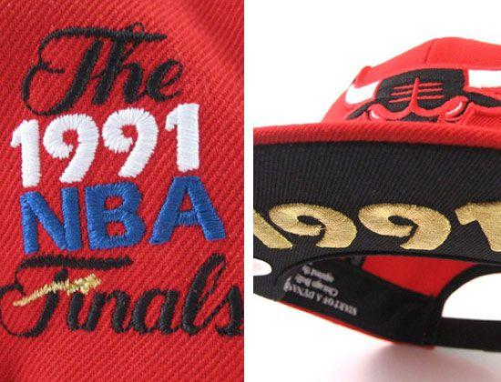e1b4bedb4ff chicago bulls 1991 nba finals snapback cap