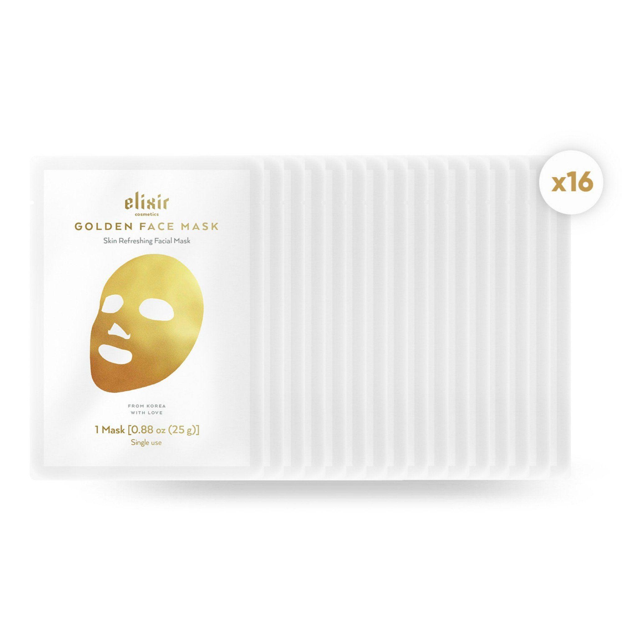 Elixir Gold Korean Face Mask Collagen Hashtag Korean Face Mask Face Mask Anti Aging Anti Aging Wrinkles