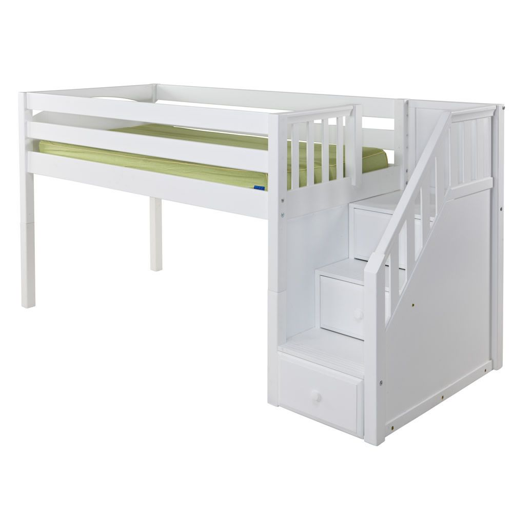 Junior Loft Bed With Stairs For Kids