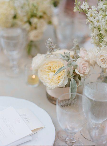 Small White Wedding Centerpieces