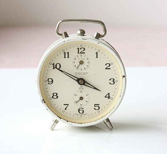 Vintage German Alarm Clock Wind Up Mechanical By Vintagecorner42
