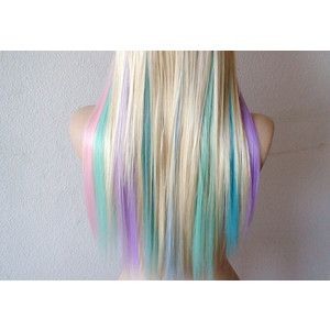 Pastel Hair And Wigs Straight Hairstyles Long Hair Color Wig Hairstyles