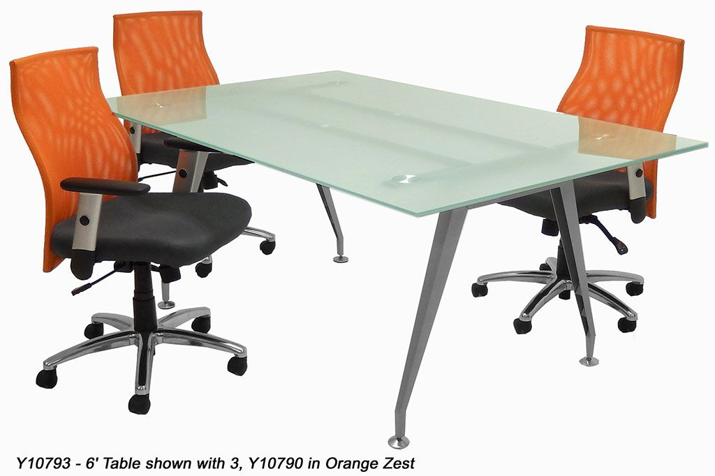 Rectangular Glass Conference Table Creative Office Furnitures - Frosted glass conference room table