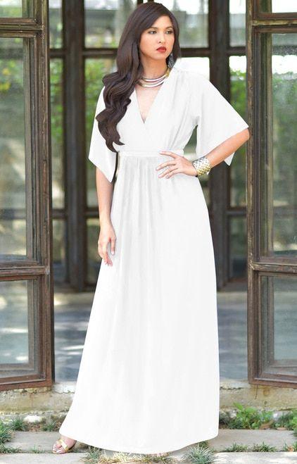 8e3072a2ea KOH KOH Kaftan Short Sleeve Empire Maxi Dress - NT061 in 2019