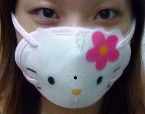 masque anti pollution hello kitty