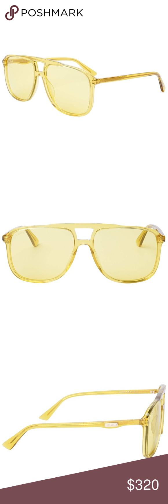 bb8ab74669 Gucci Urban Sunglasses 0262S Yellow Frame Brand new Comes with Gucci case