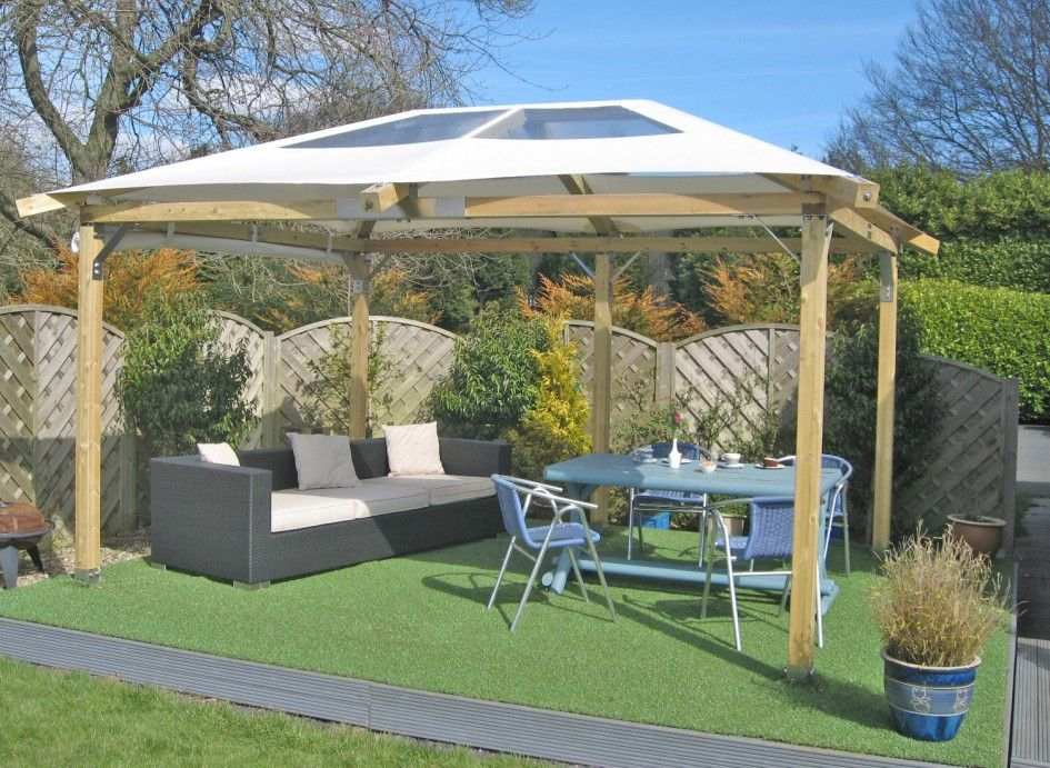 Aesthetic Gazebos And Paved Patios From White Canvas