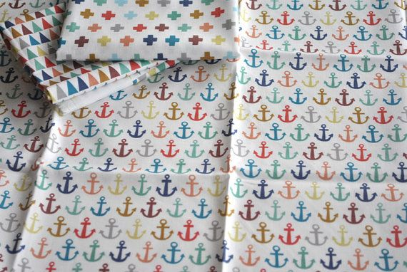 anchors aweigh - fat quarter - #anchor #fabric - #nautical fabric - this fabric is so cute!