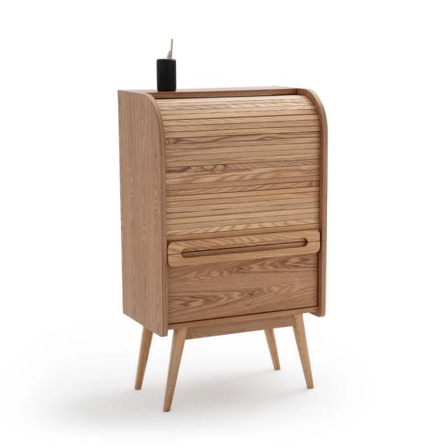 Mueble Archivador Con Persiana Ancho Wapong Solid Oak Desk