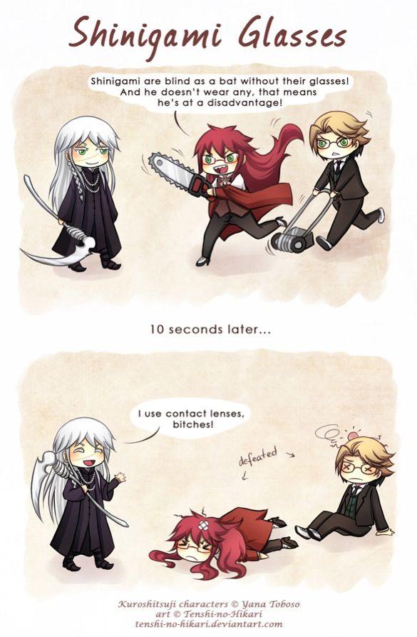Haha! Black butler humor! :D