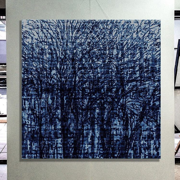 george_hall_art'Canterbury Trees' 125cm squ Screen Print on Canvas