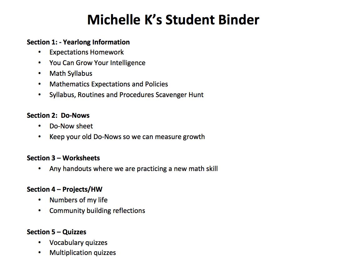 Binders The Together Student Part 1 Good Binders Make