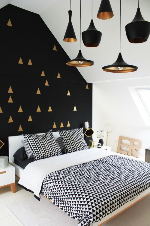 Agneta black and white wall decor for bedroom gold geometric pictures photos also rh pinterest