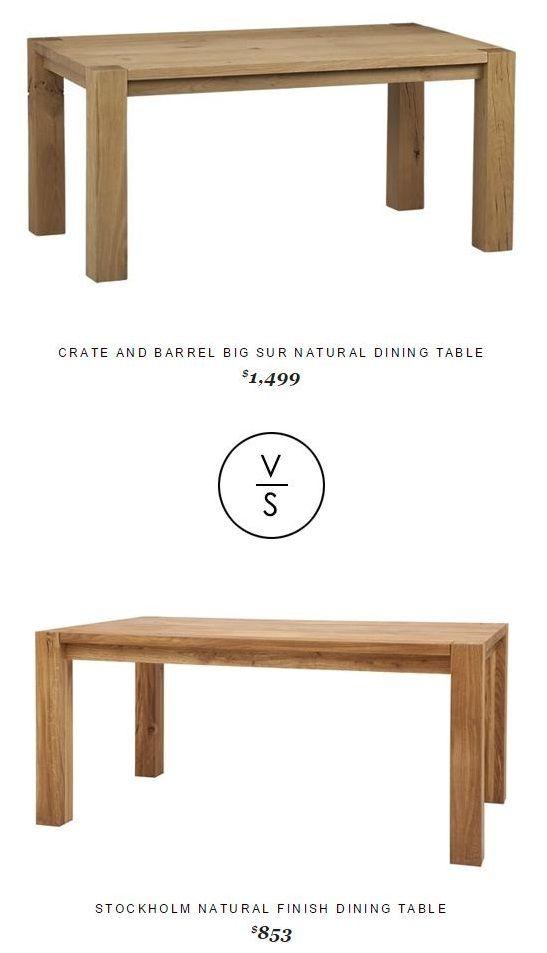 Crateandbarrel Big Sur Natural Dining Table 1 499 Vs Stockholm