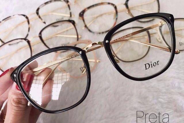 Armacao de Grau Dior New Preto Brilho   oculos em 2019   Pinterest ... b9fb33cc48