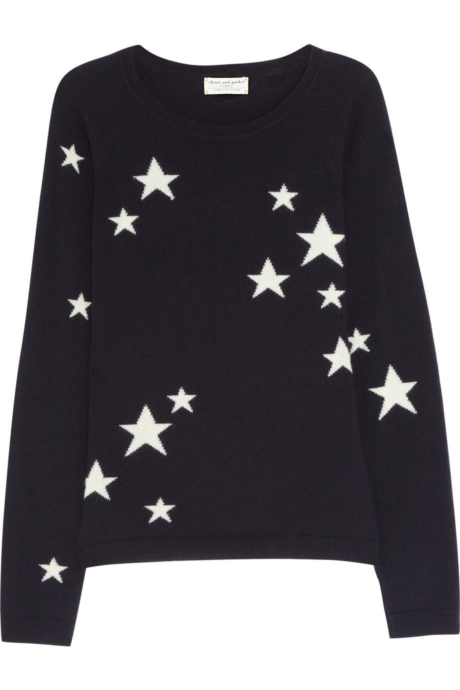 Chinti and Parker | Star-intarsia cashmere sweater | NET-A-PORTER ...