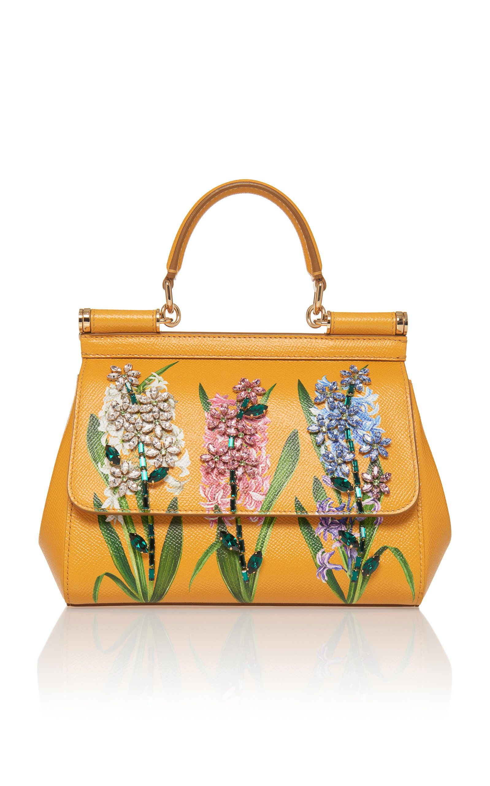 d389c4429a Dauphine Floral-Print Leather Shoulder Bag by DOLCE   GABBANA Now Available  on Moda Operandi