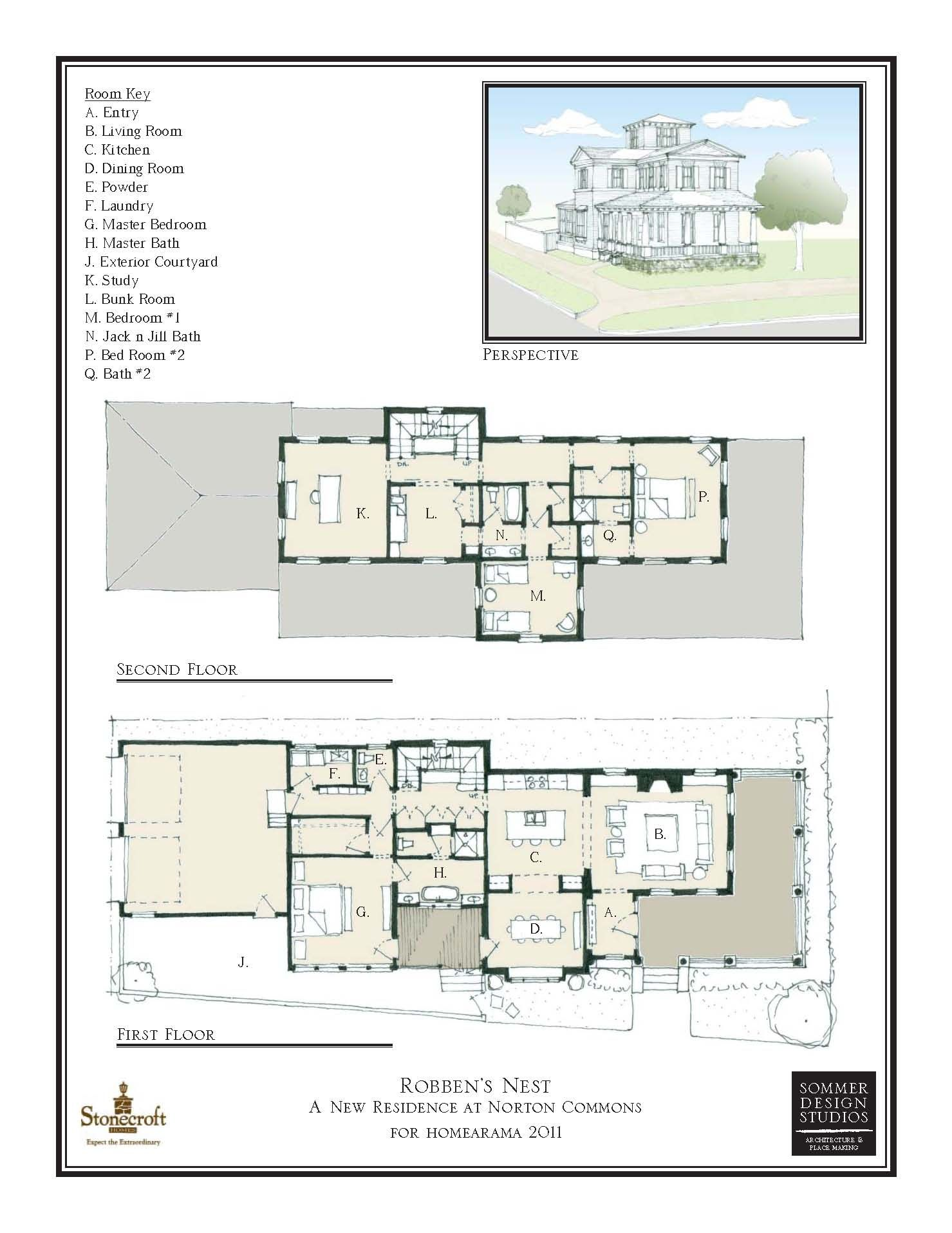 Residential Portfolio Ii Sommer Design Studios Vintage House Plans Floor Plan Drawing Floor Plan Design