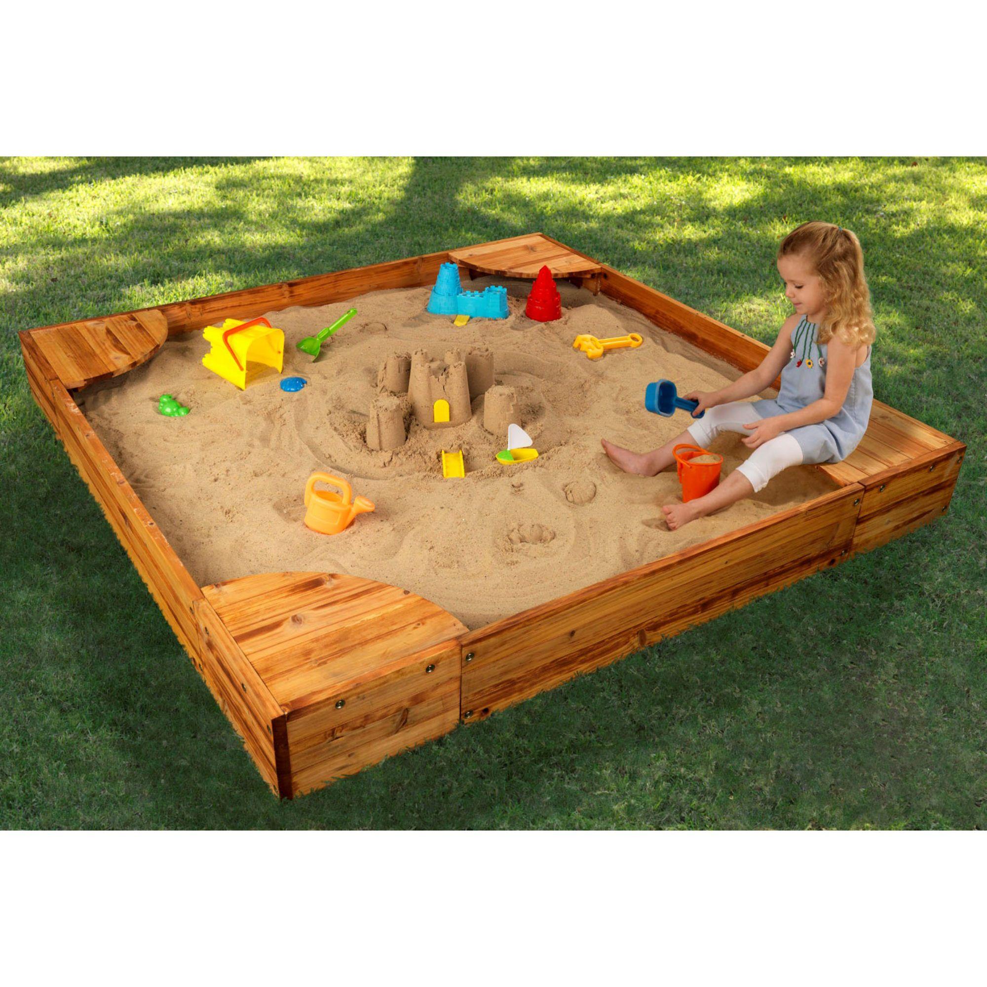 Backyard Sandbox Ideas a perfect backyard sandbox Kidkraft Backyard Sandbox More