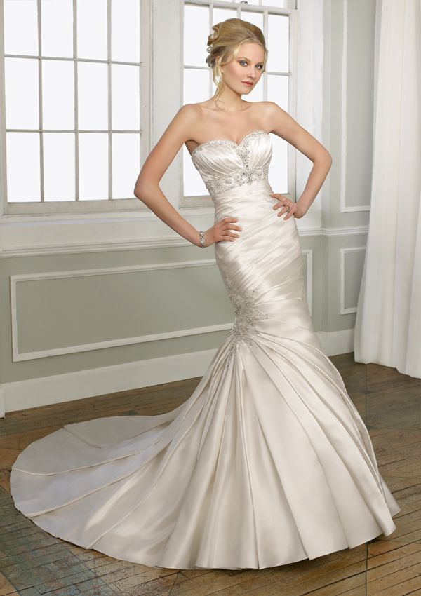 Azalea Bridal Formal Has Mori Lee Wedding Gown Mermaid Style Made Of Rous Satin