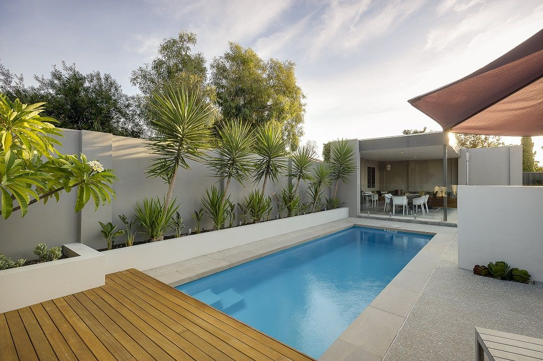 17 Spectacular Narrow Swimming Pool Designs That Will Amaze You Swimming Pool Designs Pool Designs Rectangle Pool