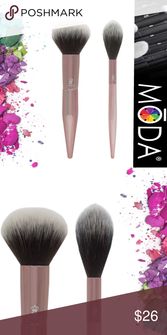 MŌDA LIMITED EDITION 2PC POWDER SOFT GLOW BRUSHES This set