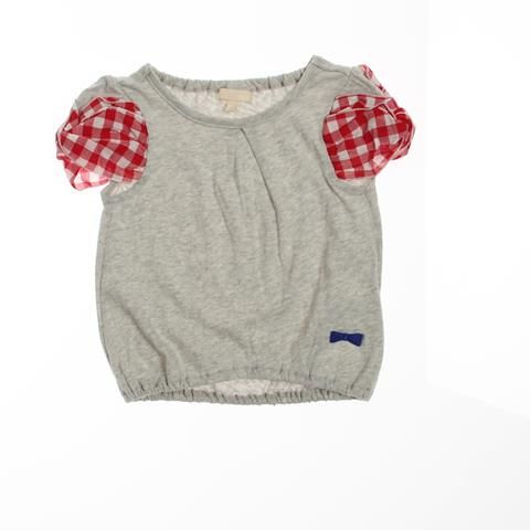 Seraphシャーリングギンガム袖ねじり半袖Tシャツのグレー110(44・30・9.5)の通販なら赤すぐ