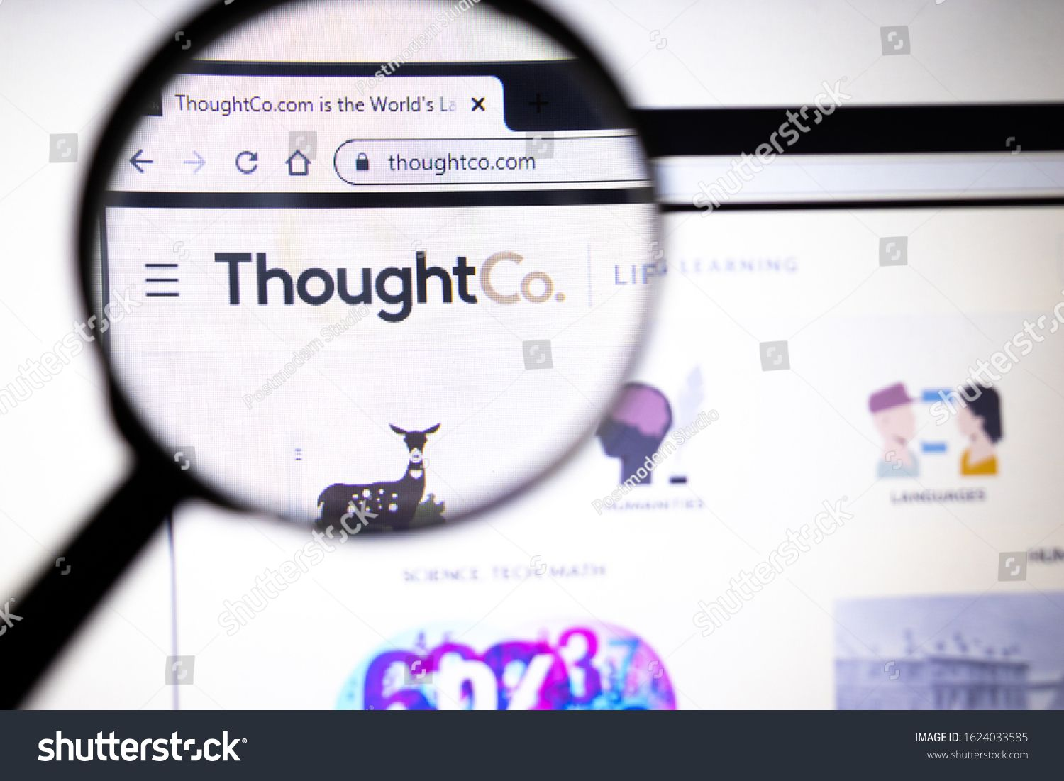 Los Angeles California Usa 23 January 2020 Thoughtco Website Page Thoughtco Com Logo On Display Screen Illus In 2020 California Hollywood California Los Angeles