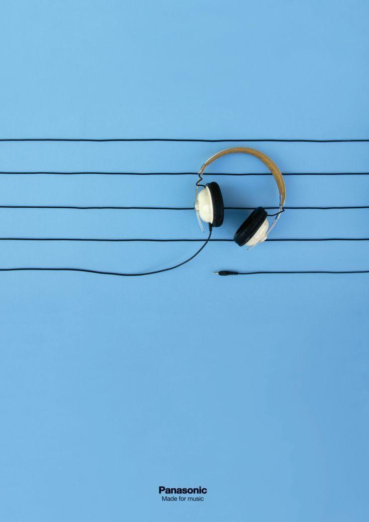fd4294bed63 panasonic headphone ad   Graphic Design   Advertising design, Ad ...