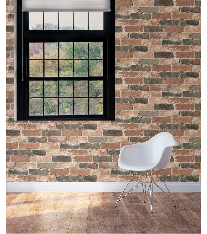 Wallpops Nuwallpaper Peel And Stick Wallpaper Newport Reclaimed Brick Joann Peel And Stick Wallpaper Brick And Wood Brick Wallpaper