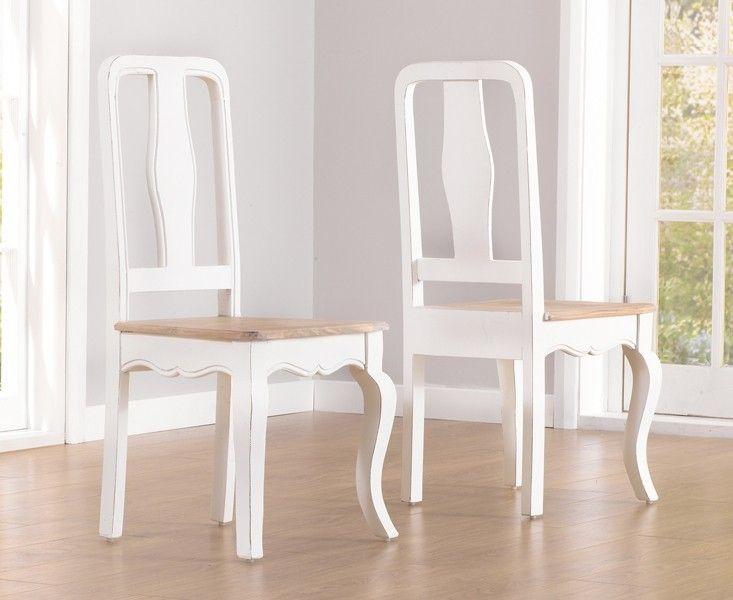 Photo of Mark Harris Sienna Ivory Painted Dining Chair (Pair) – CFS Furniture UK