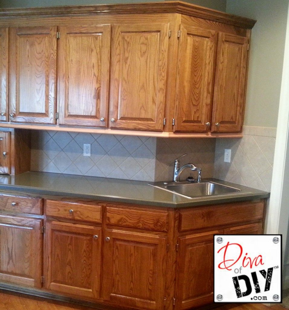 Oak Kitchen Cabinet Makeover: Oak Cabinet Makeover: How To Paint Like A Professional