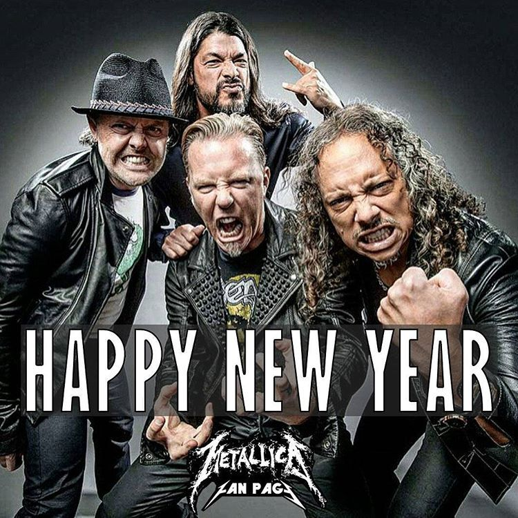 """I never saw this, too cute!   """"Happy new year Metallica Family ! #Metallica #HappyNewYear #2016"""""""