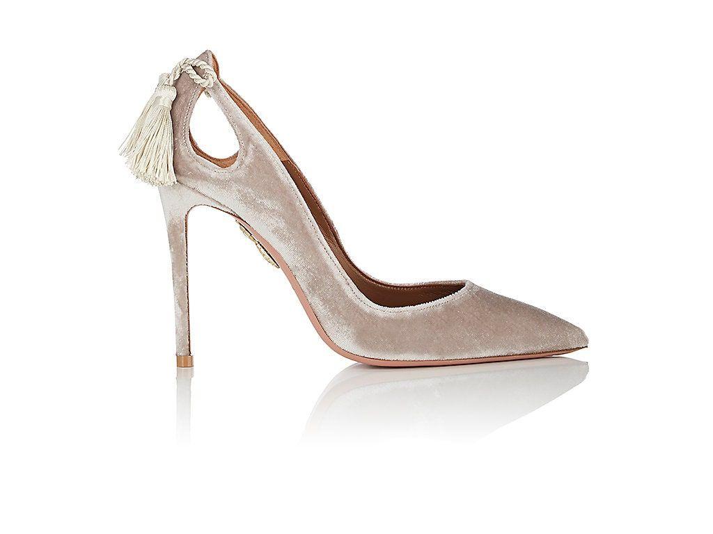 7ee304c5b724 AQUAZZURA FOREVER MARILYN VELVET PUMPS.  aquazzura  shoes ...