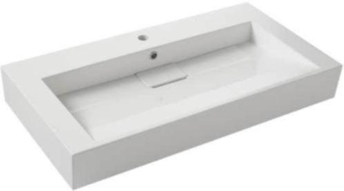 Wasbak 90 Cm : Witte wastafel haceka lugano wastafel polystone 90x50x12 cm nieuw in