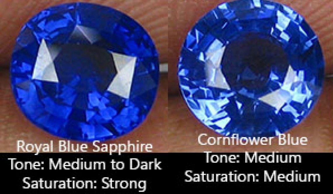 Color Royal Blue Versus Cornflower Blue Sapphire Blue Crystals Stones Pink Gemstones Cornflower Blue