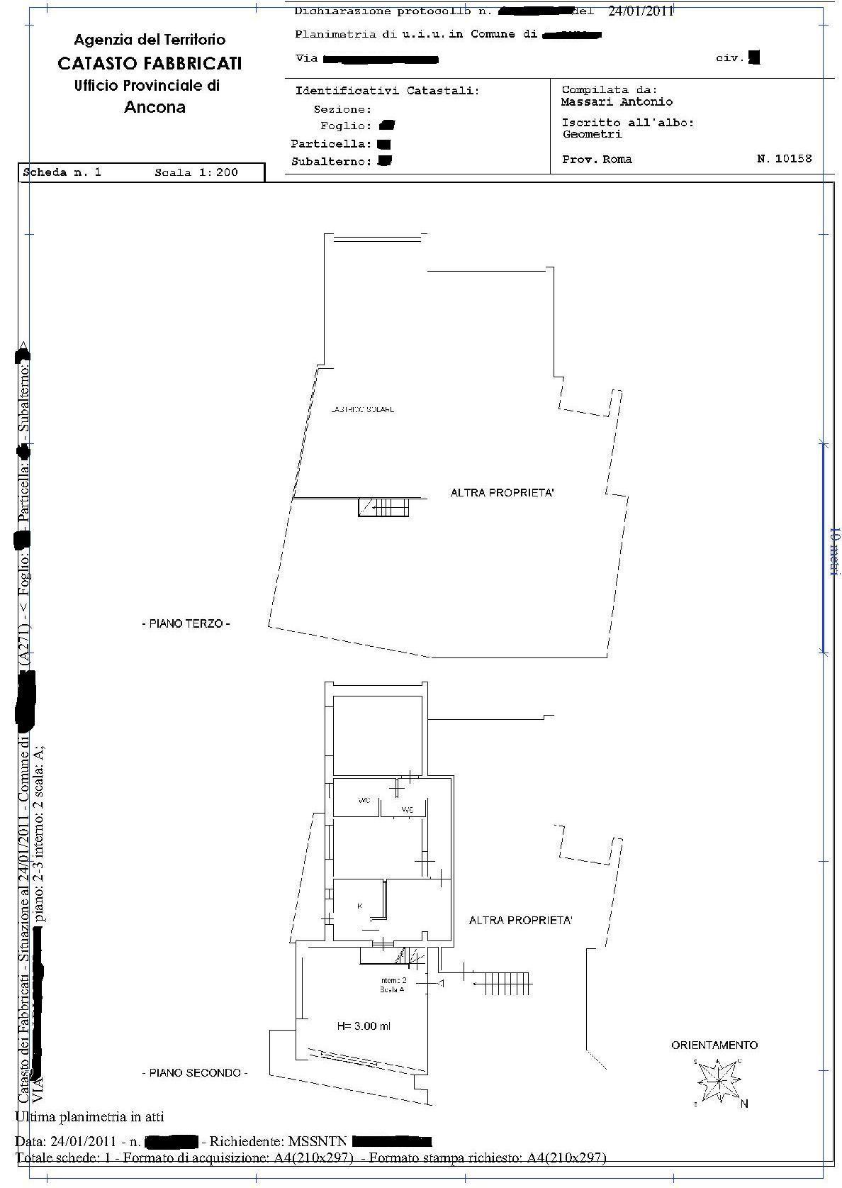 Richiesta planimetria catastale rasterizzata online in for Planimetrie casa gratis